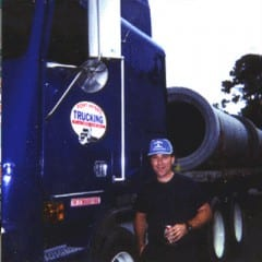 Truck Driving School Graduate David Curtis: September 2001