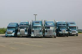 Werner Enterprises fleet of semi-tractor trailers