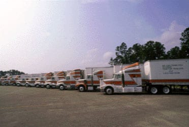 Fleet of Trucks used by National Truck Driving School