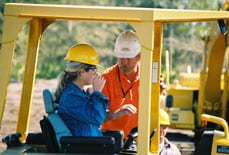 Student Learning to Operate Heavy Construction Equipment