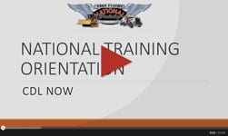 Orientation Video | National Truck Driving School CDL Truck Driver Training