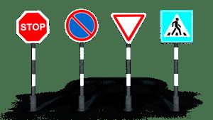 traffic road signs